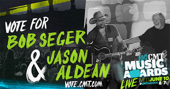 Vote For Bob &Seger & Jason Aldean for the CMT Performance of the Year!