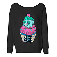 Abbey Dawn Cupcake Sweatshirt in Black