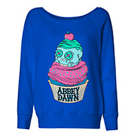 Abbey Dawn Cupcake Sweatshirt in Royal Blue