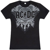 AC/DC Black Ice Womens T-shirt