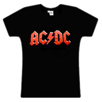 AC/DC Red Logo Black Skinny