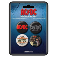 AC/DC Pyramid Badge Set