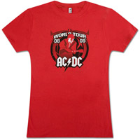 AC/DC Black Ice Red Tour T-Shirt