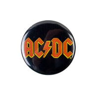 AC/DC Logo Button
