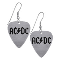 AC/DC Guitar Pick Earrings