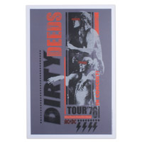 AC/DC Dirty Deeds 12&quot; x 18&quot; Tour Poster