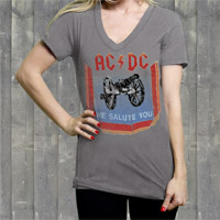 AC/DC &quot;We Salute You&quot; Ladies V-Neck