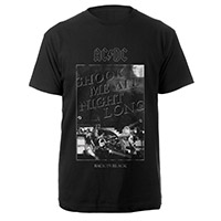 AC/DC Shook Me All Night Long Black Tee