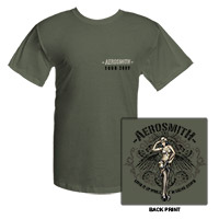 Aerosmith Army Girl Tee