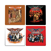 New - Aerosmith 4pc. Wood Coaster Set