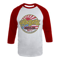 Aerosmith '77 Vintage Japan Logo Raglan