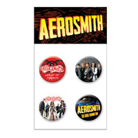 Aerosmith Button 4pk