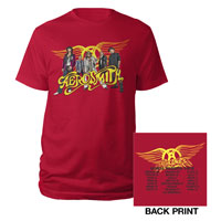 Aerosmith 2012 Band Shot Tour Tee