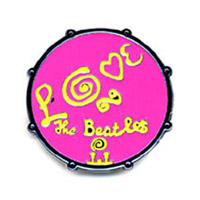 Love Drum Pin Pink