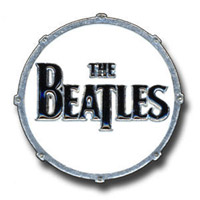 The Beatles Logo Drum Pin Large