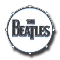 The Beatles Logo Drum Pin Small