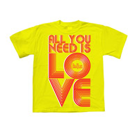 All You Need Is Love Retro Toddler Tee