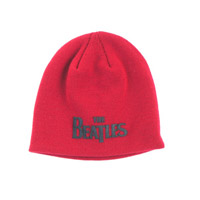 The Beatles Logo Beanie Red