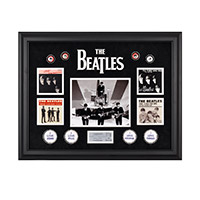 """The Beatles On The Ed Sullivan Show"" Framed Presentation"