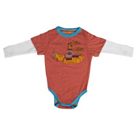 Yellow Submarine Long Sleeve Onesie