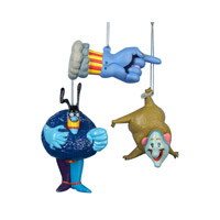 Yellow Submarine Assorted Ornament Set of Three