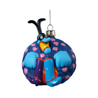 Blue Meanie Glass Ornament