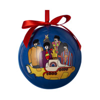 Yellow Submarine Decoupage Ball Ornament