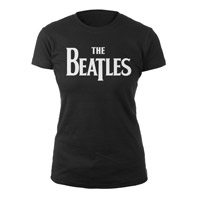 The Beatles White Logo Womens Tee