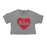 The Beatles Heart Draped Sleeve Tee