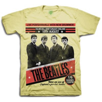The Beatles 1962 'Live Performance With New Drummer' T-Shirt