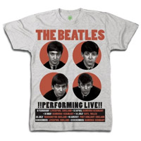 The Beatles 1962 '!Performing Live!' T-Shirt
