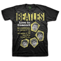 The Beatles 1962 'Live In Concert In Liverpool' T-Shirt