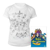 DVD, Womens White Sketches Exclusive T-Shirt.