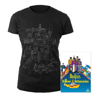 DVD, Womens Black Sketches Exclusive T-Shirt.