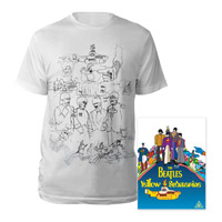 DVD, Mens White Sketches Exclusive T-Shirt.