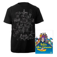 Yellow Submarine DVD & Yellow Submarine Mens Black Sketches Exclusive T-Shirt.