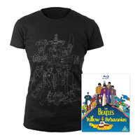 Blu-ray, Womens Black Sketches Exclusive T-Shirt.
