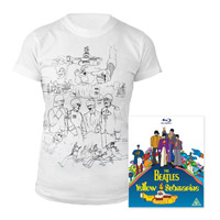 Blu-ray, Womens White Sketches Exclusive T-Shirt.