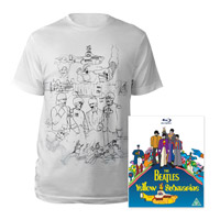 Blu-ray, Mens White Sketches Exclusive T-Shirt.
