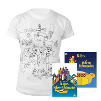 DVD, Womens White Sketches Exclusive T-Shirt &amp; Midi Book.