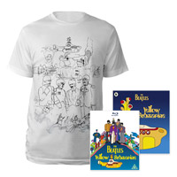Blu-ray, Mens White Sketches Exclusive T-Shirt & Midi Book.