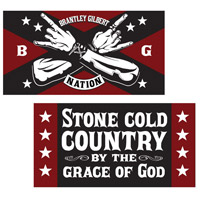 Brantley Gilbert Stone Cold Country Flag