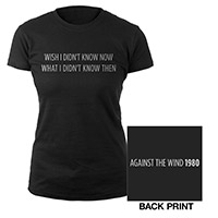 Against the Wind Ladies Lyric Tee
