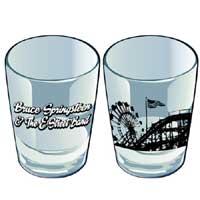 Bruce Springsteen Amusement Park Logo Shot Glass
