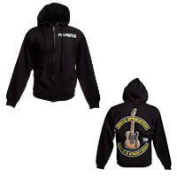Springsteen Guitar Zip Up Hoodie