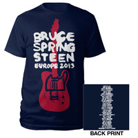 New - 2013 Wrecking Ball Europe Tour Tee