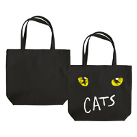 Cats Eyes Black Tote Bag