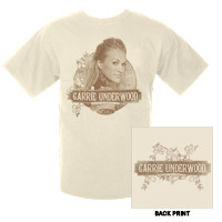 Official Carnival Ride Tour 2008 Floral Circle Tee