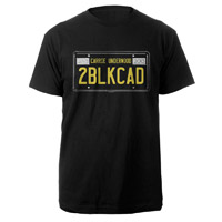 Two Black Cadillacs License Plate Tee