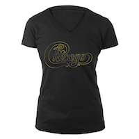 Chicago Women's Gold Foil V-Neck Tee